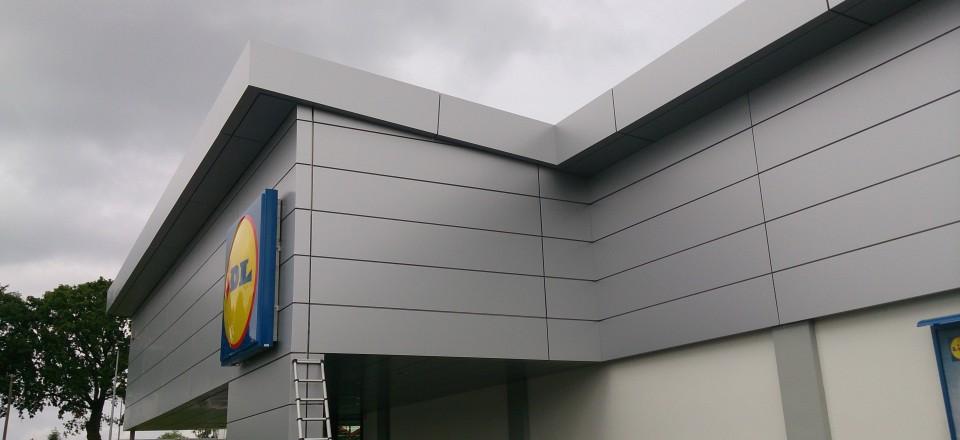 Réalisation d'une façade en alucobond