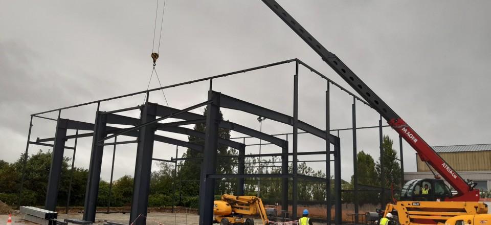 Construction d'un bâtiment de maintenance à Lorient (56)