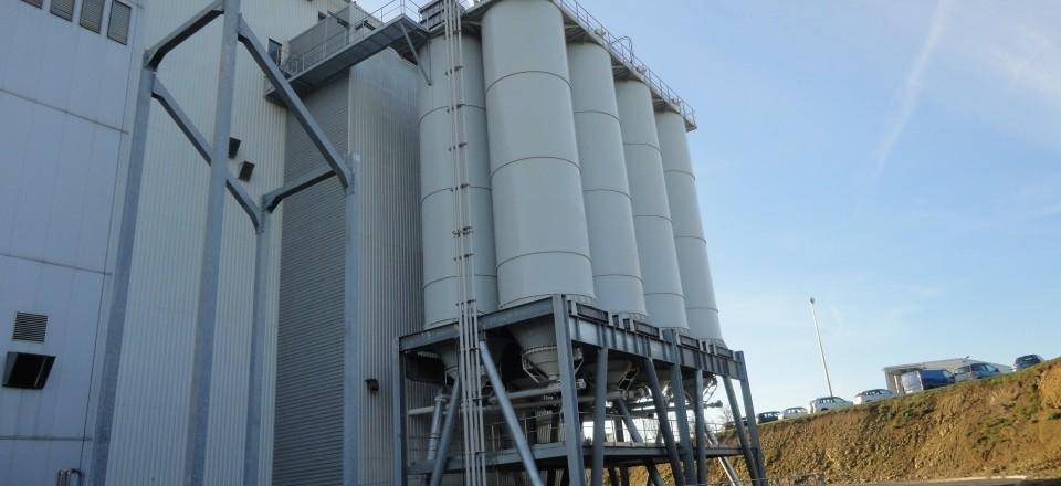 Réalisation de supports de silos