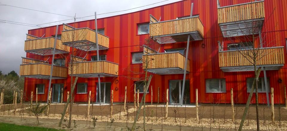 Réalisation de balcons pour des logements collectifs