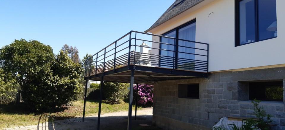 Fabrication et montage d'une terrasse à Paimpol (22)
